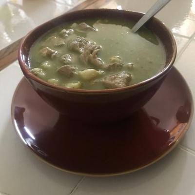Pozole Verde: Mexican soup/stew.