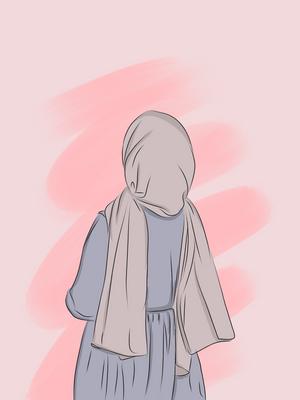 A girl wearing Hijab (Headscarf).