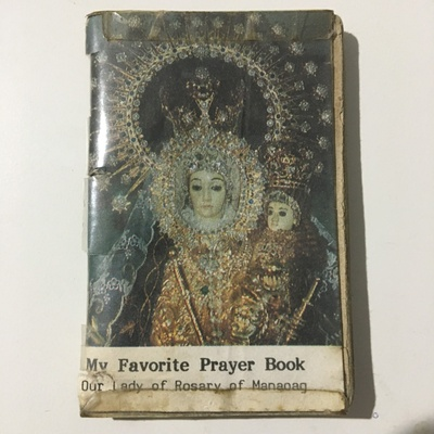 Lady of Rosary of Manaoag on book cover