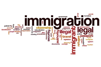 The word immigration and the many thoughts that come to mind, illegal, passport, security, citizenship, poverty etc.