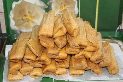 This is how tamales look when they are done.