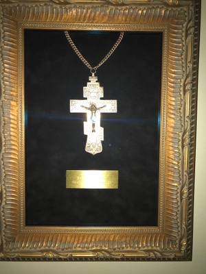 This cross was used by my great grandfather when he preached in Cedar Rapids, Iowa.