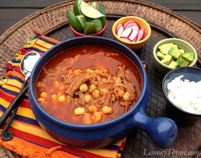 Soup with chicken or meat and corn and you could put some onion, avocado, and lettuce.