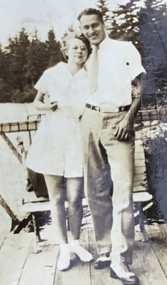 This is a picture of my great grandparents. Their names were Glen Sprague and Betty Dorhamer