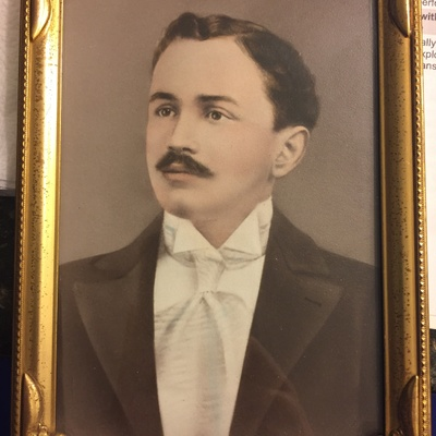 This is a photograph of my grandfather, Joseph Saladino, who came to New Orleans as part of an arranged marriage.