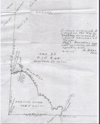 Map of Addison Kline Sr.'s plot in Bovina, MS.