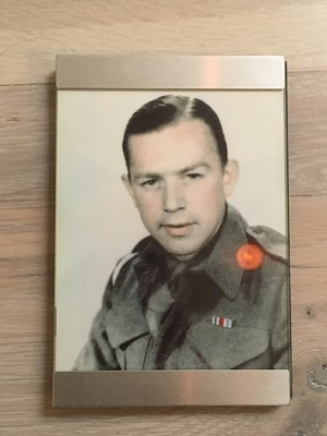 My great-grandfather in his army uniform during WWII.