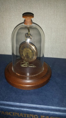 The pocket watch in its casing