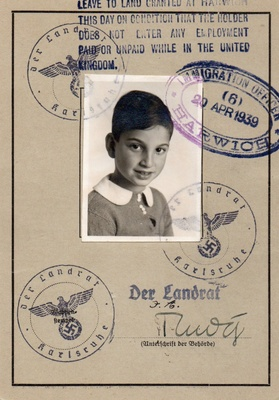 """This is my Grandfathers """"passport"""""""