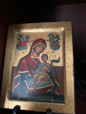 Image of Virgin Mary holding Jesus