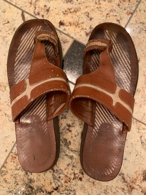 My father's sandals