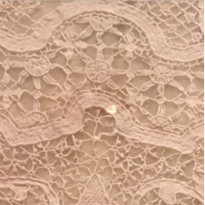 A section of the lace tablecloth