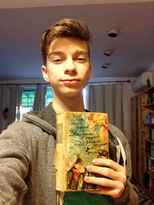 Photo of me with the book