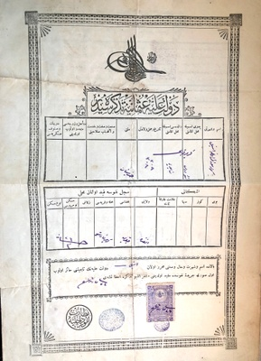 """Stelios's Ottoman passport forged by """"Russians."""""""