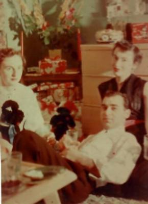 Margaret (far left) Rosa Tuchman (far right) Bert Tuchman (middle)