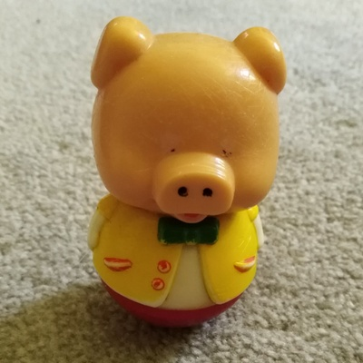 This is the pig toy owned by my mom.