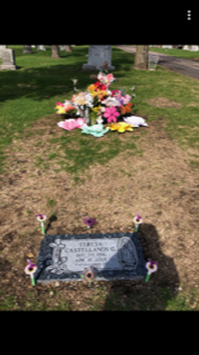 This is a photo of her grave.