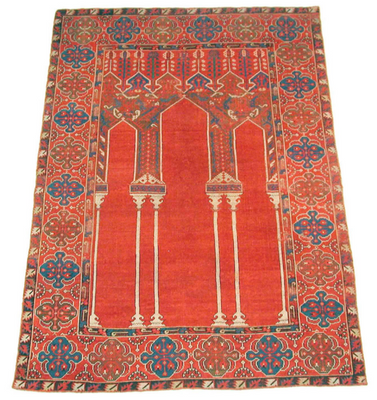 This is a photo of a Islamic praying mat