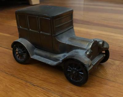 Brass Car Piggy Bank, 1920s -1940s