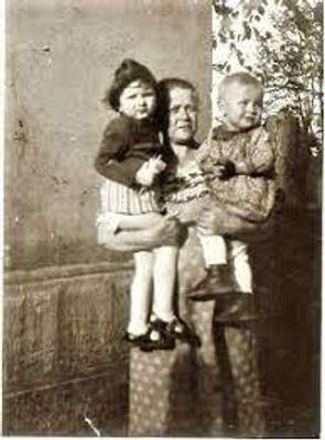Genevieve, my grandma, and a neighbor